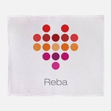 I Heart Reba Throw Blanket