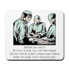 Veins Fact Mousepad