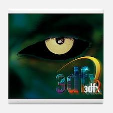 3dfx Got the voodoo eyes on you Tile Coaster