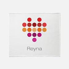 I Heart Reyna Throw Blanket