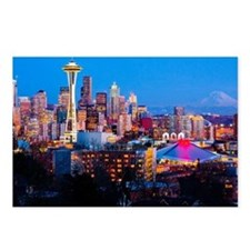 Postcards (Pk of 8) - Seattle downtown