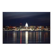 Postcards (Pk of 8) - Skyline Of Madison Wisconsin