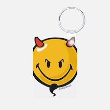 Devilish Smiley Keychains