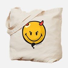 Devilish Smiley Tote Bag