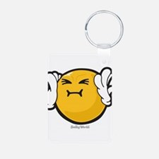 Harassed Smiley Keychains