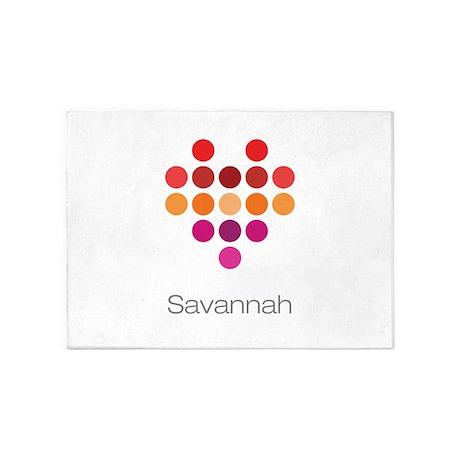I Heart Savannah 5'x7'Area Rug