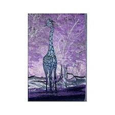 Purple Giraffe Rectangle Magnet