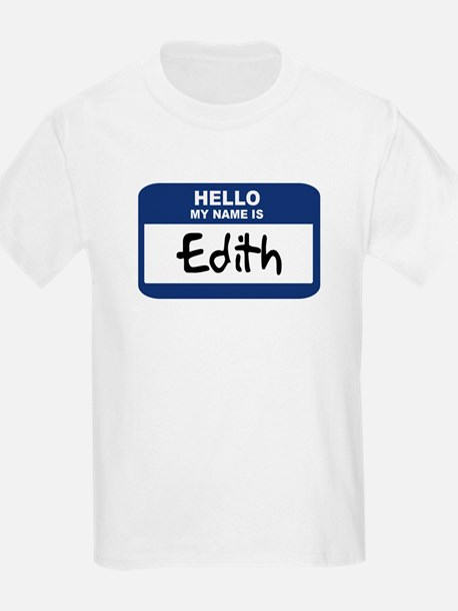 Hello: Edith Kids T-Shirt