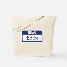 Hello: Edith Tote Bag