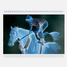 Race Horse and Jockey Wall Calendar