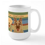 Adopt-a-Dog-Graphic Large Mug
