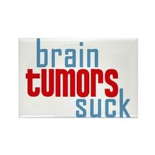Brain Tumors Suck Rectangle Magnet