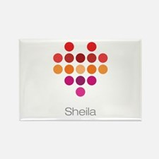 I Heart Sheila Rectangle Magnet