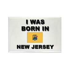 I Was Born In New Jersey Rectangle Magnet