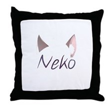 Neko! Throw Pillow