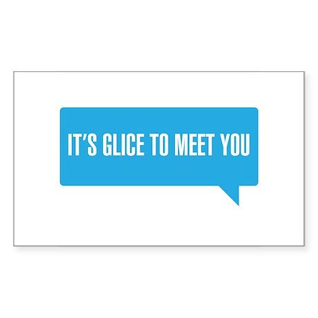 Bieber It's Glice To Meet You SNL Sticker