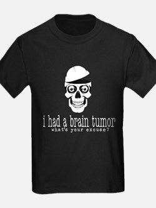 Brain Tumor Excuse (White) T