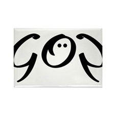 God is my strength Rectangle Magnet