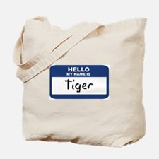 Hello: Tiger Tote Bag