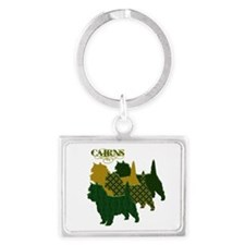 Cairn Terrier Silhouttes Landscape Keychain