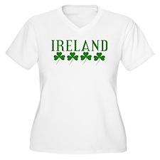 Ireland Shamrocks Plus Size T-Shirt