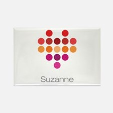 I Heart Suzanne Rectangle Magnet