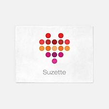 I Heart Suzette 5'x7'Area Rug