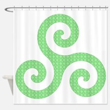 Triskele-Symbol 2 Shower Curtain