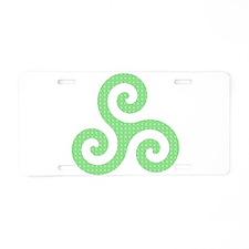 Triskele-Symbol 2 Aluminum License Plate