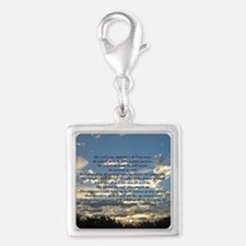 Beautiful Psalm 23 Silver Square Charm