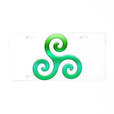 Triskele-Symbol 4 Aluminum License Plate