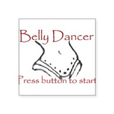 Belly dancer Rectangle Sticker
