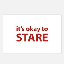 It's okay to stare Postcards (Package of 8)