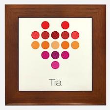 I Heart Tia Framed Tile
