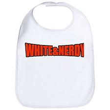 White & Nerdy Bib