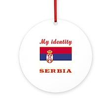 My Identity Serbia Ornament (Round)