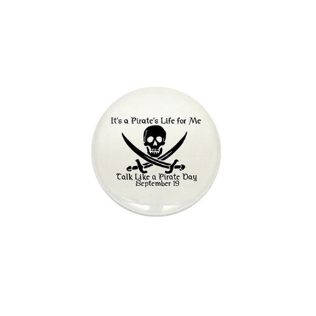 Talk Like A Pirate Day Mini Button