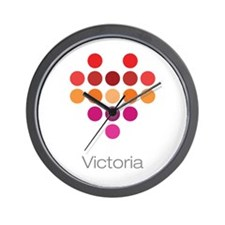 I Heart Victoria Wall Clock