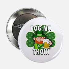 "POG MO THOIN with Leprechaun 2.25"" Button"