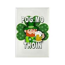 POG MO THOIN with Leprechaun Rectangle Magnet (10