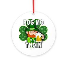 POG MO THOIN with Leprechaun Ornament (Round)