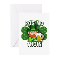 POG MO THOIN with Leprechaun Greeting Cards (Pk of