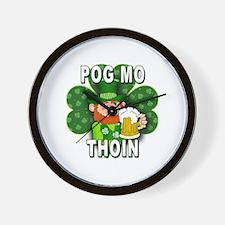 POG MO THOIN with Leprechaun Wall Clock