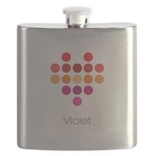 I Heart Violet Flask