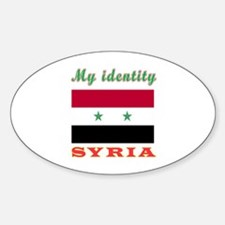 My Identity Syria Sticker (Oval)