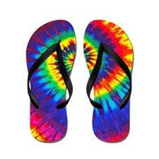 Cute Dye abstract Flip Flops
