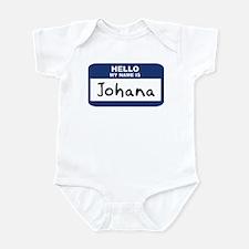 Hello: Johana Infant Bodysuit