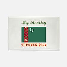 My Identity Turkmenistan Rectangle Magnet