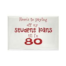 Student Loans til I'm 80 Rectangle Magnet