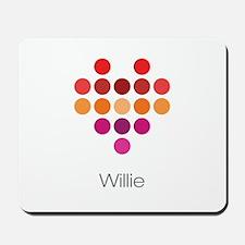 I Heart Willie Mousepad